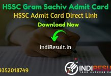 HSSC Gram Sachiv Admit Card 2021 - Download Admit Card of HSSC Haryana Gram Sachiv Exam 2021. Haryana HSSC will publish Admit Card Of Gram Sachiv exam.