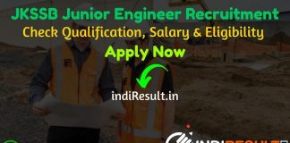 JKSSB JE Recruitment 2021 - Check JKSSB Recruitment 2021 for 174 Junior Engineer Civil & Mechanical Notification, Eligibility Criteria, Salary, Age Limit, Educational Qualification and Selection process.