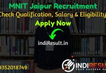 MNIT Jaipur Recruitment 2021 - Apply Online For MNIT Jaipur Librarian, Deputy Registrar, Assistant Registrar Notification, Eligibility Criteria, Salary.