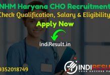 NHM Haryana CHO Recruitment 2021 - Haryana NHM CHO cum MLHP Vacancy Notification, Age Limit, Salary, Eligibility Criteria, Educational Qualification, Apply.