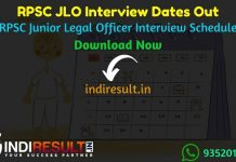 RPSC JLO Interview Date 2021 - Rajasthan Public Service Commission published RPSC Junior Legal Officer JLO interview dates schedule. As per notification RPSC JLO Interview