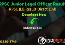 RPSC JLO Result 2020 - Download RPSC Junior Legal Officer JLO Result, Cut off & Merit List 2020. The Result Date Of RPSC JLO Exam is July 2020. RPSC Result