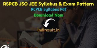 RSPCB JSO JEE Syllabus 2021 - Check RSPCB JSO Syllabus & Exam Pattern Pdf, Get RSPCB JEE Syllabus & Exam Pattern pdf Download. Get RSPCB Syllabus and Exam Pattern for JSO JEE written exam. Download RSPCB JSO JEE Syllabus Pdf