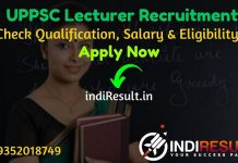 UPPSC Lecturer Recruitment 2020 - UP Inter College 1473 Lecturer Vacancy Notification, Eligibility Criteria, Salary, Age Limit, Educational Qualification & selection process.