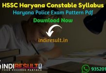 Haryana HSSC Constable Syllabus 2021 - Download HSSC Haryana Constable Syllabus pdf in Hindi & HSSC Constable Exam Pattern pdf Download. HSSC Syllabus pdf.