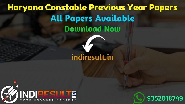 Haryana Police Previous Year Papers - Download Haryana Police Constable SI Previous Question Papers Pdf, HSSC Constable Previous Year Question Papers Answer