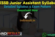 JKSSB Junior Assistant Syllabus 2021 - Download JKSSB Junior Assistant Exam Syllabus pdf & JKSSB JA Syllabus Exam Pattern. JKSSB Jr Assistant Syllabus pdf