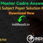 PSEB Master Cadre Answer Key 2021 - SSA Punjab PSEB Master Cadre Teacher Answer Key pdf & Download Answer Key of PSEB Master Cadre exam,PSEB Answer Key Pdf.