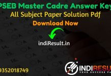 PSEB Master Cadre Answer Key 2021 - SSA Punjab PSEB Master Cadre Teacher Answer Key pdf & Download Answer Key of PSEB Master Cadre exam,PSEB Answer Key Pdf.
