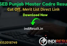 PSEB Master Cadre Result 2021 - Download SSA Punjab PSEB ERB Master Cadre Result, Cut off & Merit List 2021. The Result Date Of PSEB Master Cadre Exam 2021.