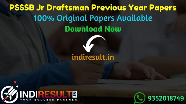 PSSSB Junior Draftsman Previous Year Papers - Download PSSSB Punjab Junior Draftsman Previous Question Papers, PSSSB Punjab Jr Draftsman Old Papers Pdf.