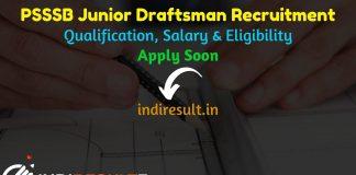 SSSB Junior Draftsman Recruitment 2021 - Apply Punjab PSSSB 659 Jr Draftsman Vacancy Notification, Eligibility, Salary, Last Date, Age Limit, Qualification.