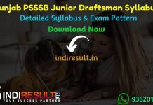 PSSSB Junior Draftsman Syllabus 2021 - PSSSB Punjab Junior Draftsman Civil,Mechanical & Architecture Syllabus pdf Download.Punjab SSSB Jr Draftsman Syllabus