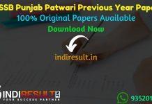 Punjab Patwari Previous Year Papers - Download PSSSB Punjab Revenue Patwari Previous Question Papers, PSSSB Punjab Patwari Old Papers,Patwari Question Paper