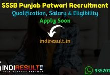 Punjab Patwari Recruitment 2021 - Apply Online PSSSB Punjab Revenue Patwari Vacancy Notification, Eligibility Criteria, Salary, Last Date, Age Limit, Date.