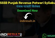 Punjab Patwari Syllabus 2021 - PSSSB Punjab Revenue Patwari Syllabus pdf in Hindi/English & Punjab PSSSB Patwari Exam Pattern, PSSSB Patwari Syllabus pdf.