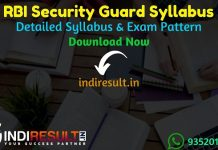 RBI Security Guard Syllabus 2021 - RBI Security Guard Exam Syllabus pdf in Hindi/English & RBI Security Guard Exam Pattern, Syllabus of RBI Security Guard.