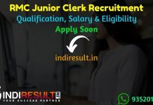 RMC Junior Clerk Recruitment 2021 - Rajkot Municipal Corporation RMC Jr Clerk Vacancy Notification, Eligibility Criteria, Salary, Last Date, Age Limit.