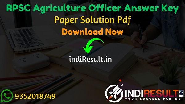RPSC Agriculture Officer Answer Key 2021 - Download RPSC AO, ARO Answer Key Official Pdf rpsc.rajasthan.gov.in. Answer Key Of RPSC Agriculture Officer Exam.