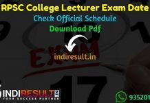 RPSC College Lecturer Exam Date 2021 - Rajasthan Public Service Commission published RPSC College Lecturer Exam schedule. College Lecturer Exam Notification