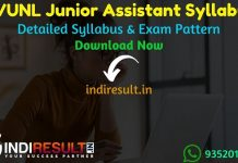 RVUNL Junior Assistant Syllabus 2021 - RVUNL Junior Assistant/Commercial Assistant Syllabus pdf Download & Raj Vidhut Vibhag RVUNL JA Syllabus Exam Pattern.