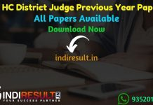 Rajasthan High Court District Judge Previous Year Papers - Download Rajasthan High Court District Judge Old Question Papers Pdf, Test Paper, Model Paper.