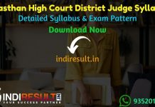 Rajasthan High Court District Judge Syllabus 2021 - Check HCRAJ District Judge Syllabus Pdf Download in Hindi/English & Exam Pattern, Download HCRAJ DJ Syllabus Pdf.
