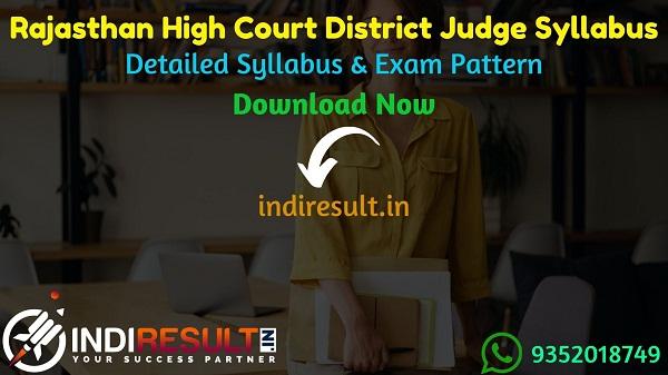 Rajasthan High Court District Judge Syllabus 2021 - Check HCRAJ District Judge Syllabus Pdf Download in Hindi/English & Exam Pattern, Download HCRAJ DJ Syllabus Pdf.