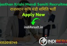 Rajasthan Krishi Mandi Samiti Recruitment 2021 - Check Rajasthan Krishi Upaj Mandi Vacancy Notification, Eligibility Criteria, Salary, Age Limit, Last Date.