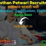 Rajasthan Patwari Recruitment 2021 : RSMSSB 4421 Patwari Vacancy Notification, Notification, Eligibility, Age Limit, Salary, Raj Patwari Bharti Online Form.