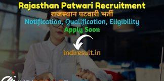 Rajasthan Patwari Recruitment 2021: RSMSSB 5378 Patwari Vacancy Notification, Notification, Eligibility, Age Limit, Salary, Raj Patwari Bharti Online Form.