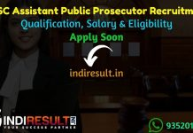 UPSC Assistant Public Prosecutor Recruitment 2021 - upsc.gov.in 80 Assistant Public Prosecutor Vacancy Notification, Eligibility Criteria, Salary,Last Date.