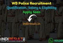 WB Police Recruitment 2021 - Apply online West Bengal Police 9720 Vacancy for Constable, Lady Constable, SI/Lady SI Posts Notification, Eligibility, Salary.