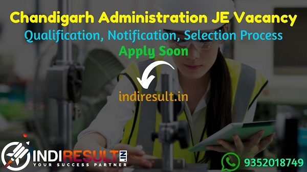 Chandigarh Administration JE Recruitment 2021 - Apply Chandigarh Administration 42 Civil Junior Engineer Vacancy,Notification,Eligibility, Age Limit, Salary