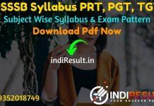 DSSSB PGT TGT PRT Syllabus 2021 - Download DSSSB TGT PGT PRT & Nursery Teacher Syllabus pdf in Hindi. Get DSSSB TGT PGT Teacher Syllabus Pdf Download.