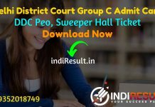 Delhi District Court Group C Admit Card 2021 - Download DDC Peon Sweeper Group C Admit Card 2021. DDC published Group C Admit Card on delhicourts.nic.in.