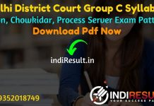 Delhi District Court Group C Syllabus 2021 - Download Delhi District Court Group C Exam Syllabus pdf in Hindi/English. Download DDC Group C Syllabus pdf