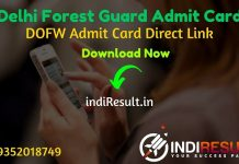 Delhi Forest Guard Admit Card 2021 - Download Admit Card of Delhi Forest Guard Exam 2021. DOFW forest.delhigovt.nic.in publish Forest Guard Admit Card Delhi