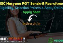 HSSC Haryana PGT Sanskrit Recruitment 2021 - Apply HSSC 534 PGT Sanskrit Teacher Vacancy Notification, HSSC PGT Recruitment Eligibility Criteria, Salary.