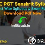 HSSC Haryana PGT Sanskrit Syllabus 2021 - Download HSSC PGT Sanskrit Syllabus pdf in Hindi/English. Download HSSC Teacher Syllabus 2021 pdf. HSSC Syllabus