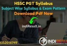HSSC PGT Syllabus 2021 - Download HSSC Haryana PGT Syllabus pdf in Hindi/English. Download HSSC Teacher Syllabus pdf, HSSC PGT Screening Test Syllabus 2020.