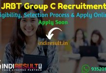 JRBT Group C Recruitment 2021 - Apply JRBT 2410 LDC, MTS, Agriculture Assistant Vacancy, Notification, Eligibility Criteria, Age Limit, Salary,Online Form.