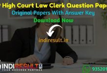 MP High Court Law Clerk Previous Question Papers - Download MP High Court Law Clerk Question Paper pdf, MP High Court Clerk Old Papers, MP HC Clerk Papers