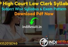 MP High Court Law Clerk Syllabus 2021 - Download MP High Court Law Clerk Exam Syllabus. Get MP HC Clerk Syllabus Pdf & Exam Pattern. Syllabus of MP HC Exam
