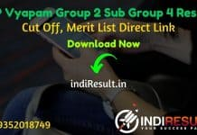 MP Vyapam Group 2 Sub Group 4 Result 2021 - Download MPPEB Group 2 Sub Group 4 Result, Cut off & Merit List 2021.MP Group 2 Sub Group 4 Result Date February