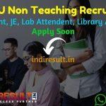 NTA DU Non Teaching Recruitment 2021 - Apply NTA DU 1145 Junior Assistant, Assistant, Stenographer, JE, Lab Attendant, Library Attendant Vacancy,