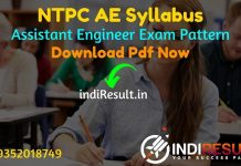 NTPC AE Syllabus 2021 - Download NTPC AEN Syllabus pdf in Hindi/English & NTPC Assistant Engineer Civil, Electrical, Electronics, Mechanical Syllabus Pdf.