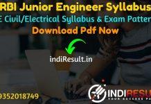 RBI JE Syllabus 2021 - Download RBI JE Civil/Electrical Syllabus pdf in Hindi/English. Download RBI Junior Engineer Syllabus pdf,RBI JE Recruitment Syllabus