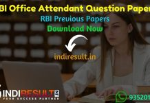 RBI Office Attendant Previous Question Papers - Download RBI Office Attendant Previous Year Papers pdf, RBI Office Attendant Old Paper With Answer