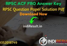 RPSC ACF FRO Answer Key 2021 - Download RPSC Forest Range Officer, ACF Answer Key pdf & RPSC ACF Answer Key with Question Paper. Answer key of RPSC ACF FRO